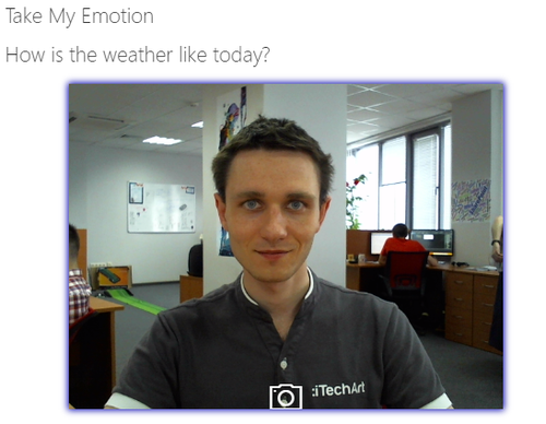 Take My Emotion web-camera view