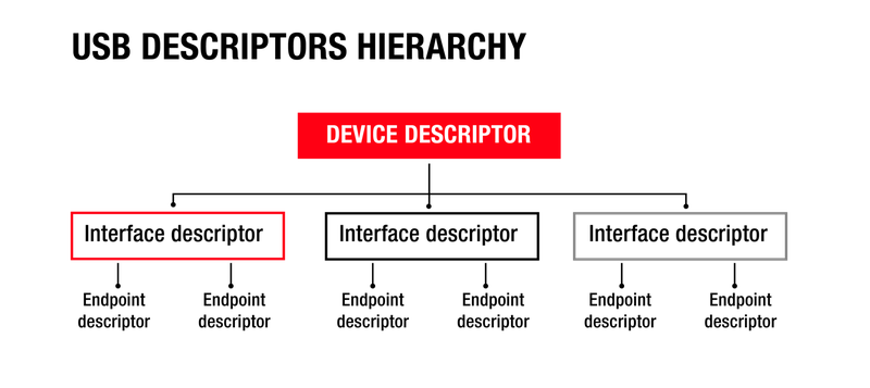 USB descriptors hieracracy