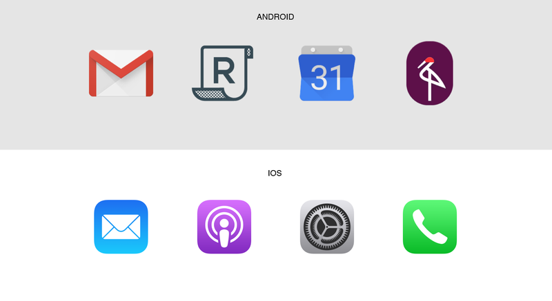 ios android icons