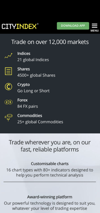 Web Trading Application for Trading Company City Index